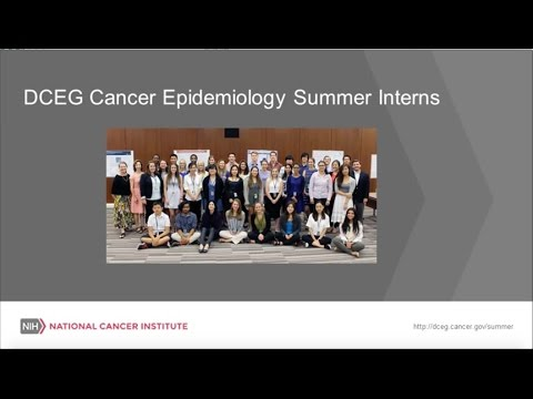Become a Summer Intern in DCEG - National Cancer Institute