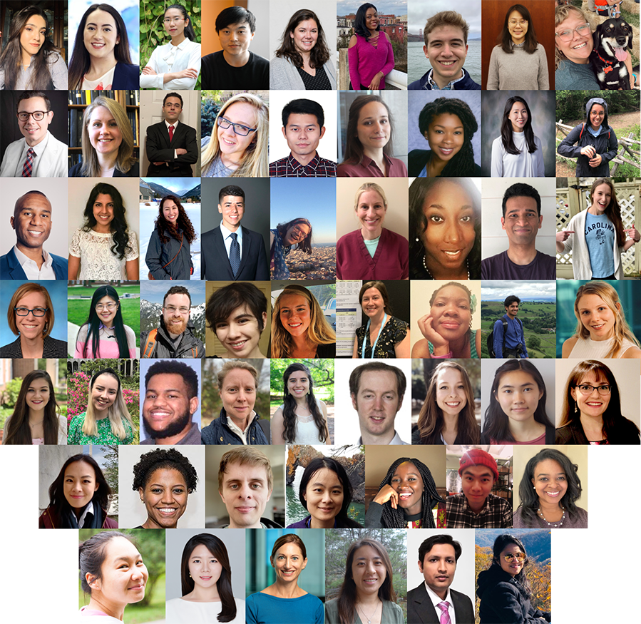 A collage of all new fellows who joined DCEG from 2020 and January, February of 2021.